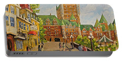 Chateau Frontenac Promenade Quebec City By Prankearts Portable Battery Charger
