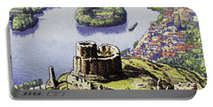 Chateau Gaillard, Also Known As The New Castle Of The Rock  Portable Battery Charger