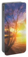 Portable Battery Charger featuring the photograph Chatfield Lake Sunset by Darren White