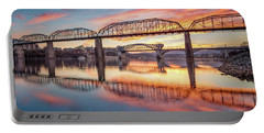 Chattanooga Sunset 5 Portable Battery Charger by Steven Llorca