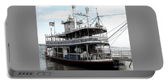 Chautauqua Belle Steamboat With Ink Sketch Effect Portable Battery Charger