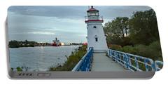 Cheboygan Crib Lighthouse Lake Huron, Lower Peninsula Mi Portable Battery Charger