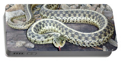 Checkered Garter Snake Portable Battery Charger