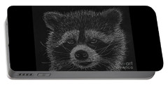 Cheeky Little Guy - Racoon Pastel Drawing Portable Battery Charger