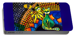 Cheer Up My Friend - Cat Art By Dora Hathazi Mendes Portable Battery Charger by Dora Hathazi Mendes