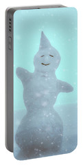 Portable Battery Charger featuring the photograph Cheerful Snowman by Ari Salmela