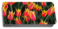 Cheerful Spring Tulips Portable Battery Charger