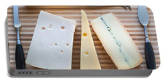 Portable Battery Charger featuring the photograph Cheese Board by Ari Salmela