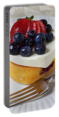 Cheese Cream Cake With Fruit Portable Battery Charger