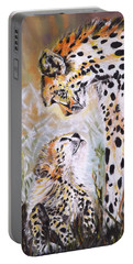 Cheetah And Pup Portable Battery Charger