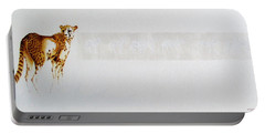 Cheetah And Zebras Portable Battery Charger