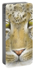 Cheetah Face Portable Battery Charger