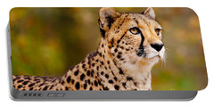 Cheetah In A Forest Portable Battery Charger