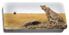 Cheetah In Africa Looking Into Camera Portable Battery Charger