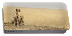 Cheetah Pair In The Masai Mara Portable Battery Charger