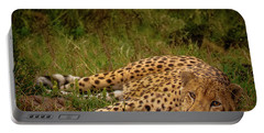 Cheetah Resting, Masai-mara Portable Battery Charger