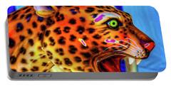 Cheetah Ride Portrait Portable Battery Charger