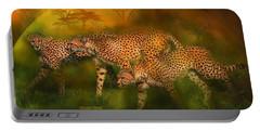 Cheetah World Portable Battery Charger by Carol Cavalaris
