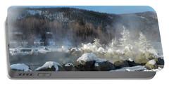 Chena Hot Springs Fairbanks Alaska Portable Battery Charger by Jani Freimann