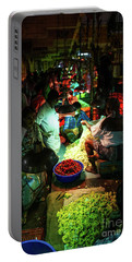 Portable Battery Charger featuring the photograph Chennai Flower Market Stalls by Mike Reid