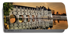 Chenonceau Castle In The Twilight Portable Battery Charger