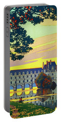 Chenonceaux, French Travel Poster Portable Battery Charger