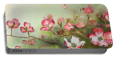 Cherokee Dogwood - Brave- Blushing Portable Battery Charger