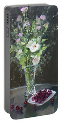 Cherries And Flowers For Her IIi Portable Battery Charger