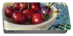 Cherries Jubilee Portable Battery Charger