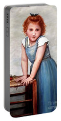 Portable Battery Charger featuring the painting Cherries by Judy Kirouac