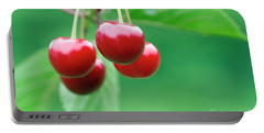 Cherries Portable Battery Charger by Michal Boubin