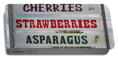 Cherries Strawberries Asparagus Roadside Sign Portable Battery Charger