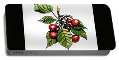 Portable Battery Charger featuring the painting Cherries by Terry Banderas