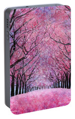 Portable Battery Charger featuring the painting Cherry Blast by Hailey E Herrera
