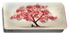 Cherry Blossom And Panda Portable Battery Charger
