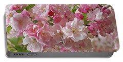 Portable Battery Charger featuring the photograph Cherry Blossom Closeup by Gill Billington