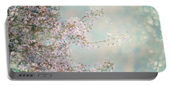 Portable Battery Charger featuring the photograph Cherry Blossom Dreams by Linda Lees