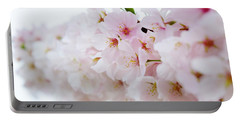 Cherry Blossom Focus Portable Battery Charger