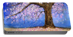Cherry Blossom Portable Battery Charger