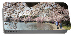 Cherry Blossom Stroll Around The Tidal Basin Portable Battery Charger