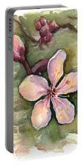 Cherry Blossom Watercolor Portable Battery Charger