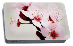Portable Battery Charger featuring the mixed media Cherry Blossoms 1- Art By Linda Woods by Linda Woods
