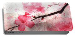 Cherry Blossoms 1 Portable Battery Charger