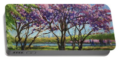 Cherry Blossoms, Central Park Portable Battery Charger