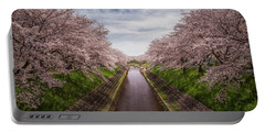 Portable Battery Charger featuring the photograph Cherry Blossoms In Nara by Rikk Flohr