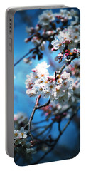 Cherry Blossoms In The Light Portable Battery Charger by Rachel Mirror