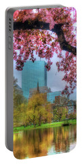 Portable Battery Charger featuring the photograph Cherry Blossoms Over Boston by Joann Vitali