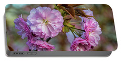 Cherry Blossoms Portable Battery Charger by Pat Cook