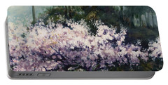 Cherry Blossoms Portable Battery Charger by Rick Nederlof