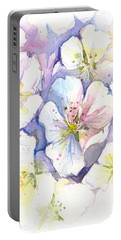Cherry Blossoms Watercolor Portable Battery Charger